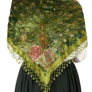Vintage boho gypsy shawl